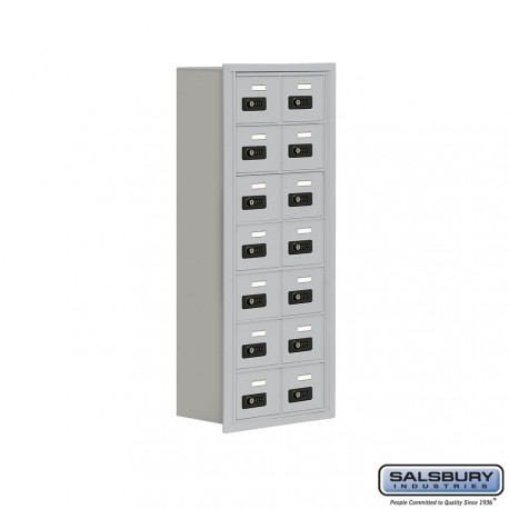 """Salsbury 1917814 Cell Phone Lockers Seven Door High, 8"""" Deep Compartments with Front Access Panel"""