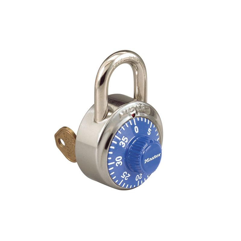 master lock 1525 combination padlock with key control