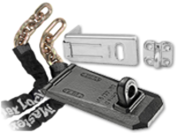 Padlock hasps, heavy duty hasp, Motorcycle chain locks, bicycle chain locks